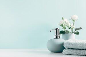 salle de bain avec huile